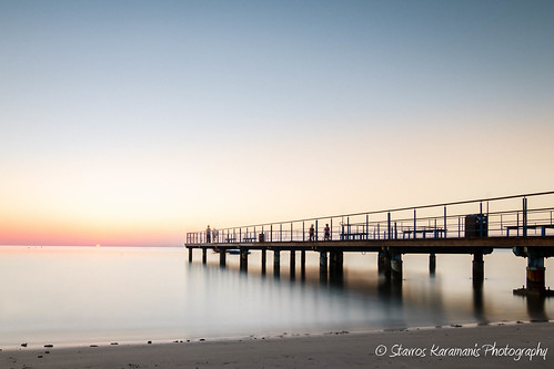 pier wharf sunrise longexposure bigstoper nd10stop hoya leefilters beach coast people sun colours sea seaside seascape morning canonusers canonphotography canon t3i tokina 1116mm f28 dxii cyprus larnaca ngc water outdoor bridge shore architecture landscape sky