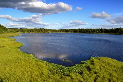 2013 201307 20130708 birdtower finland july kainuu kn krvpud kuhmo lake rytilampi summer landscape