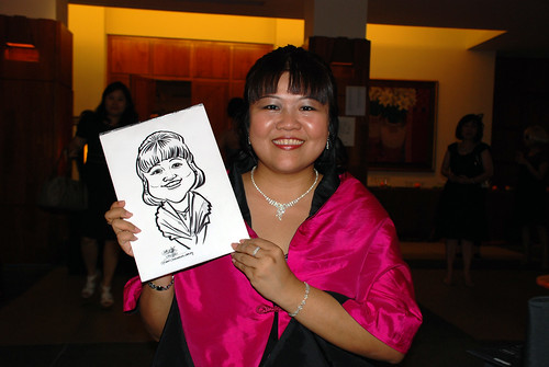 caricature live sketching for Rio Tinto Dinner & Dance - 7