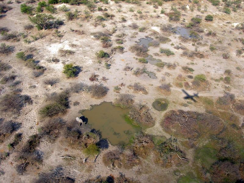 A flight over Okavango Delta