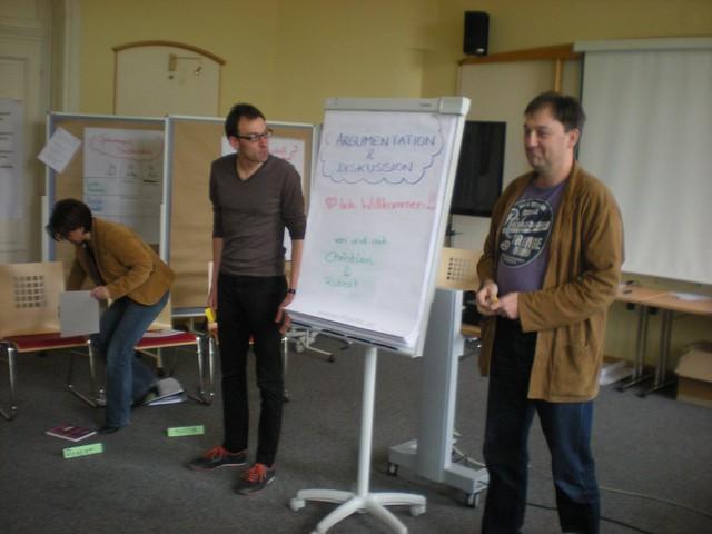Christian und Robert diskutieren übers Argumentieren