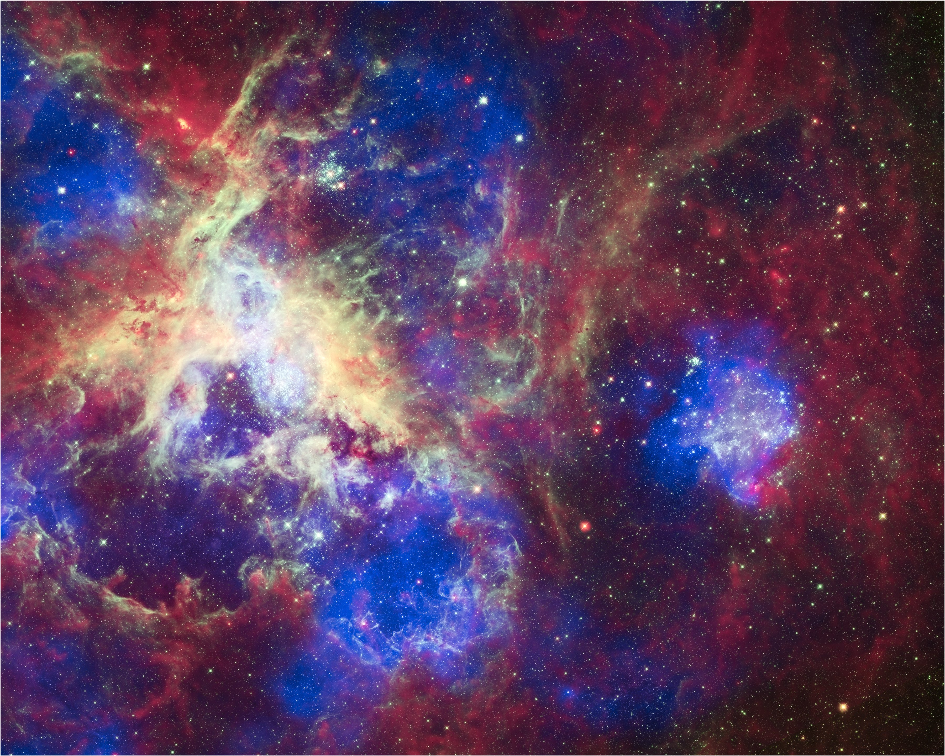 Tarantula Nebula (NASA, Chandra, Hubble, Spitzer, 04/17/12 ...