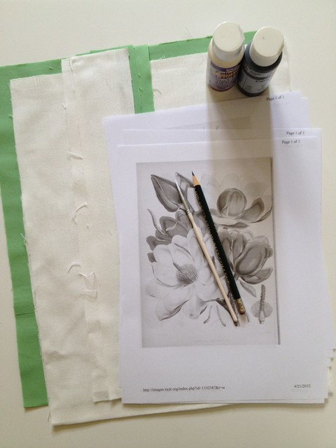 1 - Botanic Sketch Tote Bag - Supplies