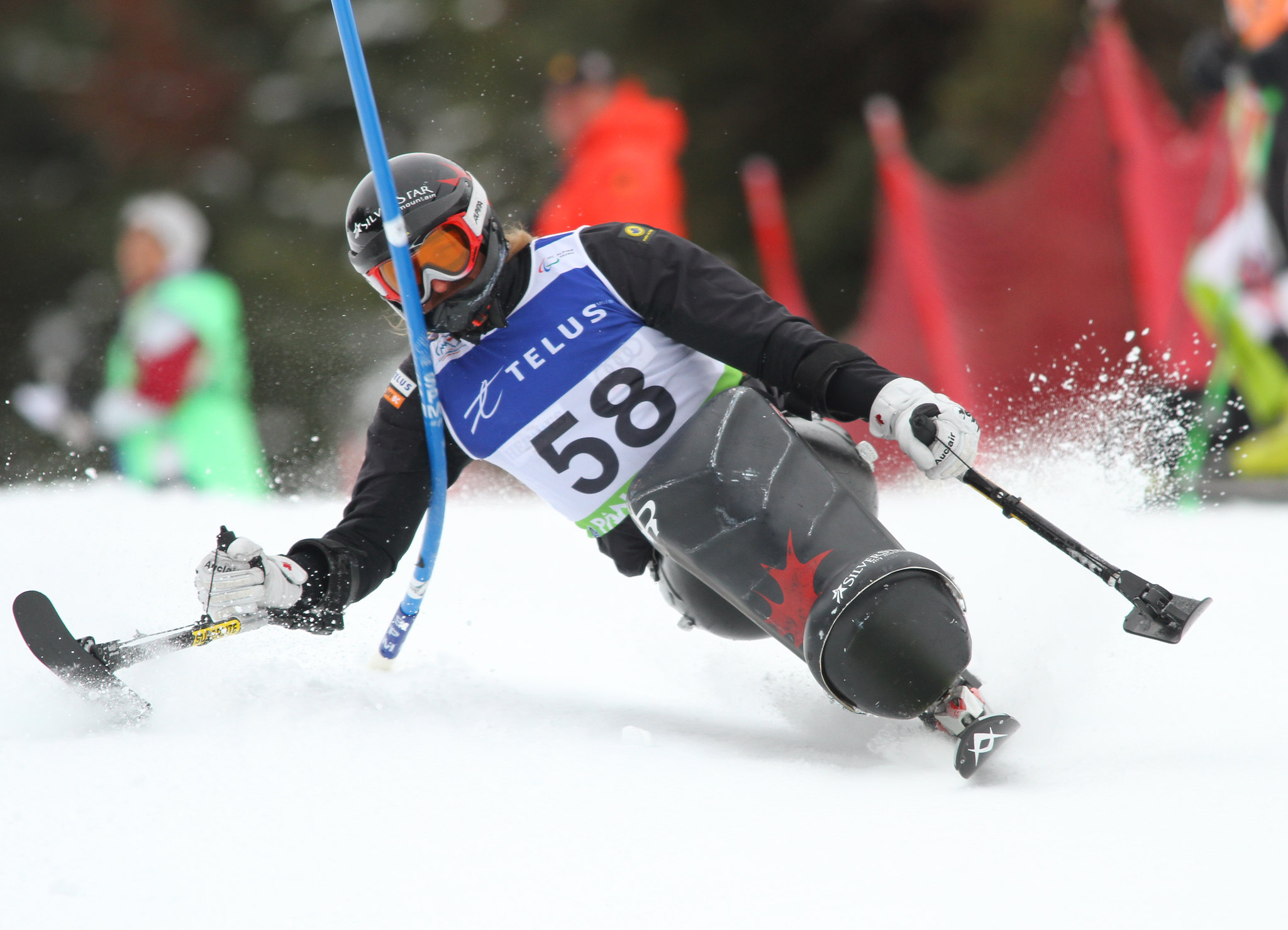 Josh Dueck in an IPC World Cup slalom in Panorama, B.C.