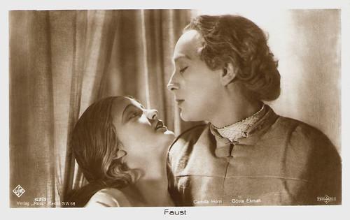 Gösta Ekman and Camilla Horn in Faust