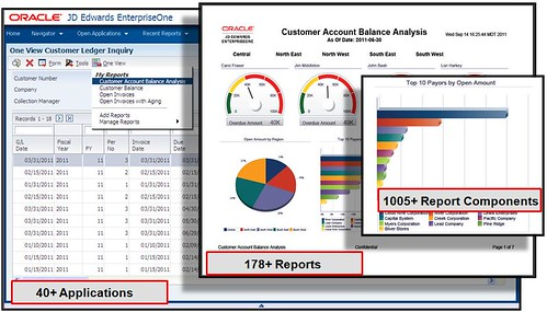Oracle's JD Edwards EnterpriseOne One View Reporting Screenshot 1