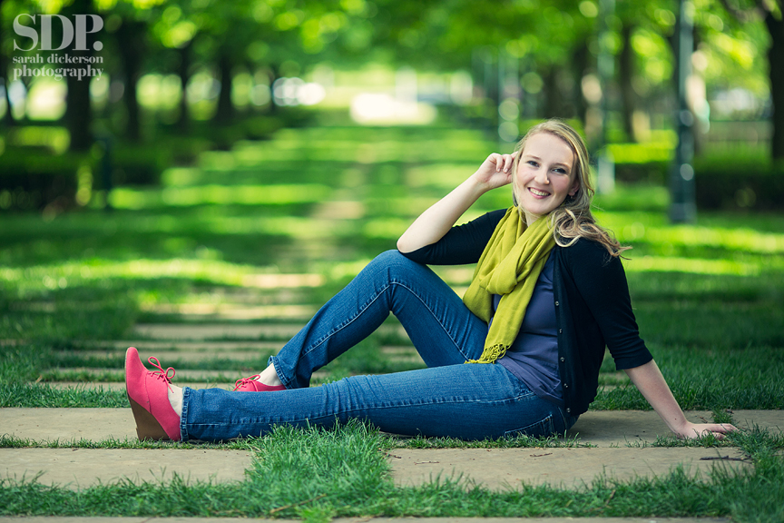 Nelson Atkins Museum senior portraits Kansas City