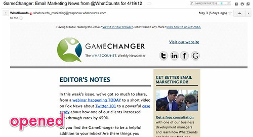 GameChanger: Email Marketing News from @WhatCounts for 4/19/12 - cspenn@gmail.com - Gmail