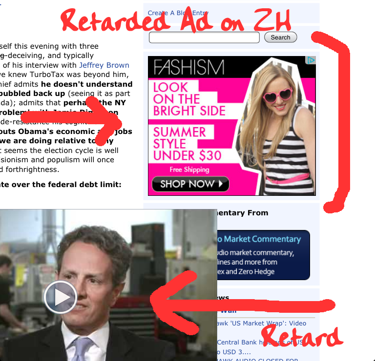RETARDED AD SEEN ON ZH