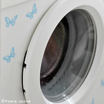 Hand-made washing machine stickers