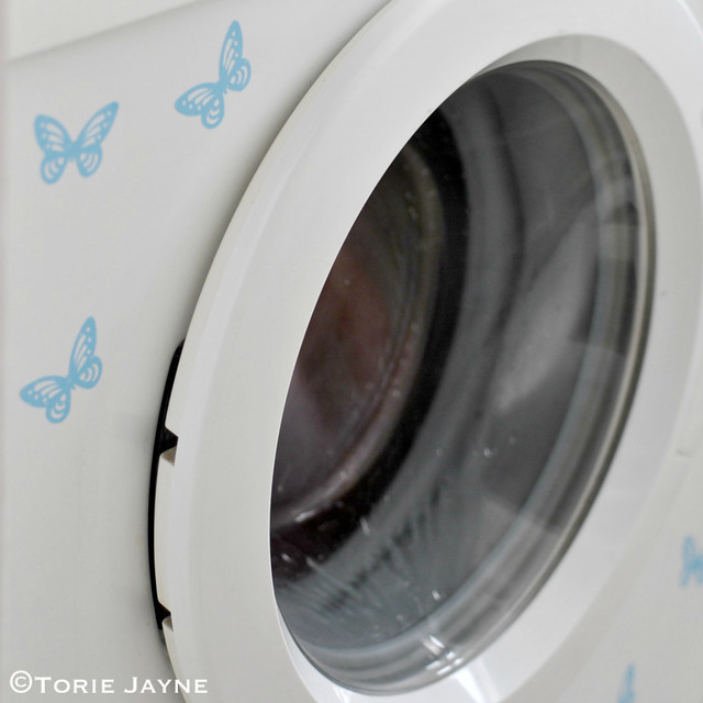 Hand-made washing machine stickers