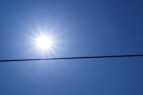 日食の青空