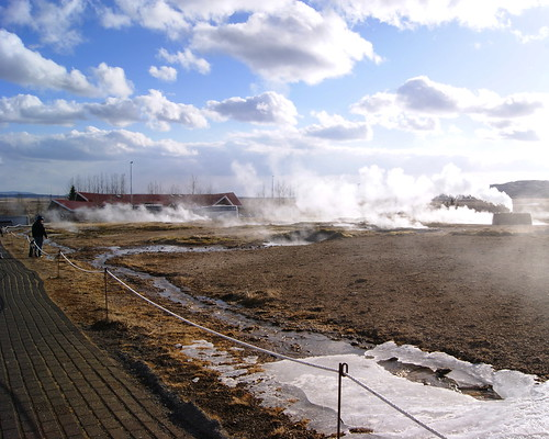 Strokkur Geysir (hot springs), Iceland