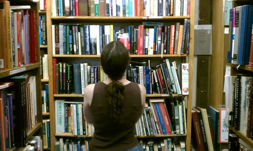 Ptw Jenn at a used bookstore in easttown earlier today