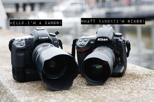 Canon and Nikon meeting in Hamburg