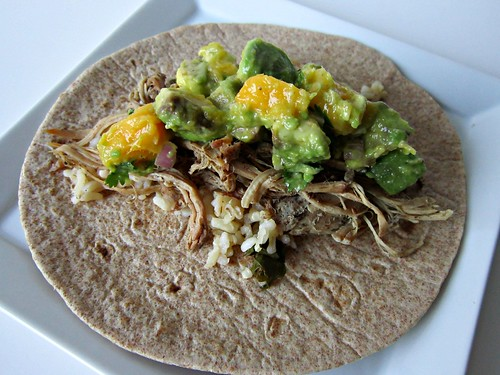 Shredded Jerk Pork Tacos with Caribbean Salsa