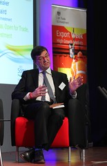 Nick Baird, CEO UKTI in panel discussion at Somerset in Business Conference