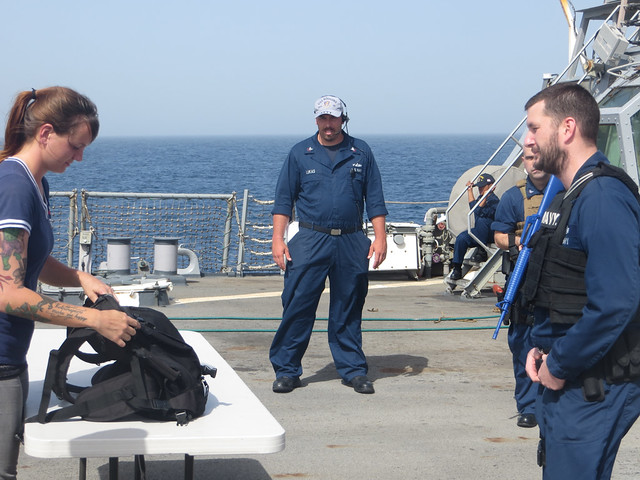 ATFP exercise onboard USS Higgins