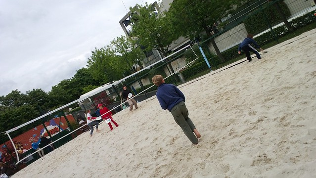 Beach tennis at Roland Garros