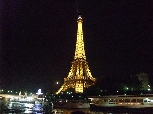 Eiffel Tower and River Seine at Night