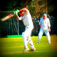 Cricket action in Hedon