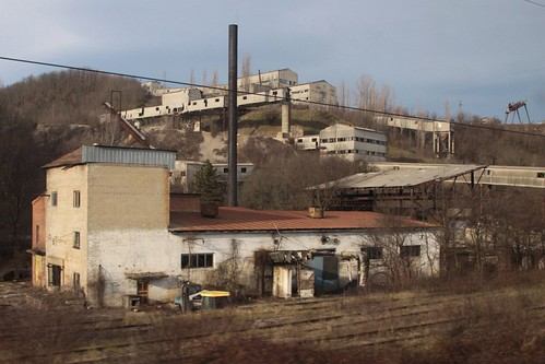 Abandoned mine outside the Russian village of Кривенковское (Krivenkovskaya)