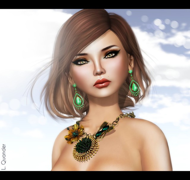 IKON Destiny Eyes - Peach -Izzie's - Irene Skin natural DB & TRUTH HAIR Charlize - Browns01Fade