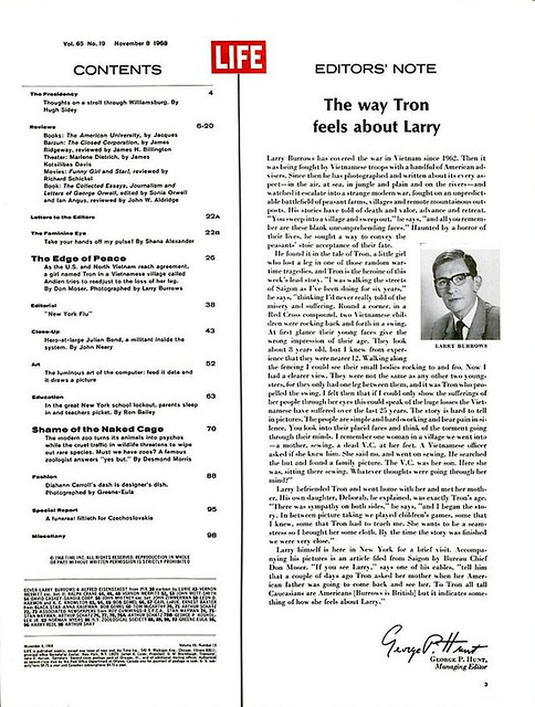 LIFE Magazine Nov 8, 1968 (2) - The way Tron feels about Larry