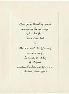 grandma bower wedding announcement