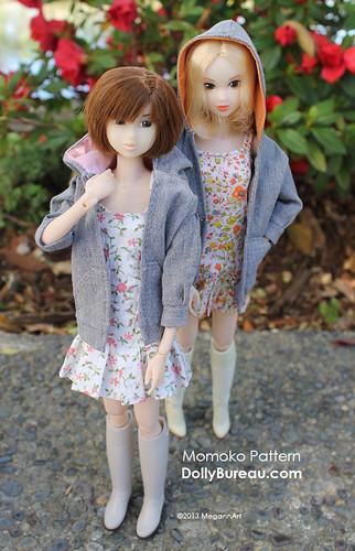Momoko dress & hoodie pattern