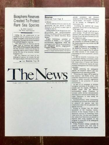 #Pinacate 20 Years Ago! @ The News 1993 @SEMARNAT_mx