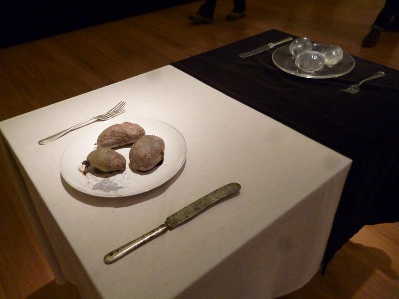 A modern installation: Rotting potatoes