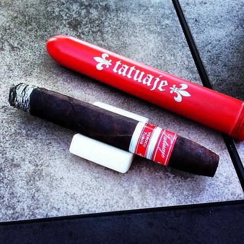 Great stick! @tatuajecigars #tatuaje #nowsmoking #cigarporn #stogiestand