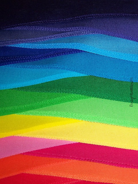 Rainbow Wave Quilt Pieces