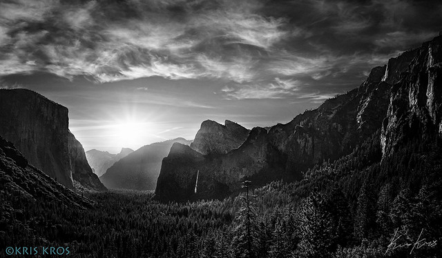 A Peaceful and Happy 4th of July from Yosemite Valley in B&W