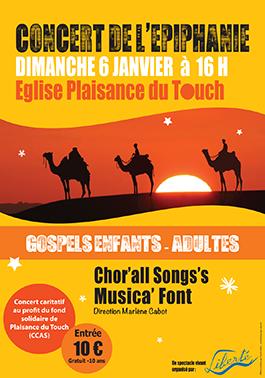 Conception et impression des affiches pour le concert d'épiphanie à Plaisance du Touch (31).