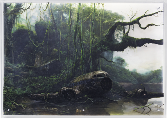 Jonathan Wateridge, Jungle River Landscape with Plane Wreck, 2006
