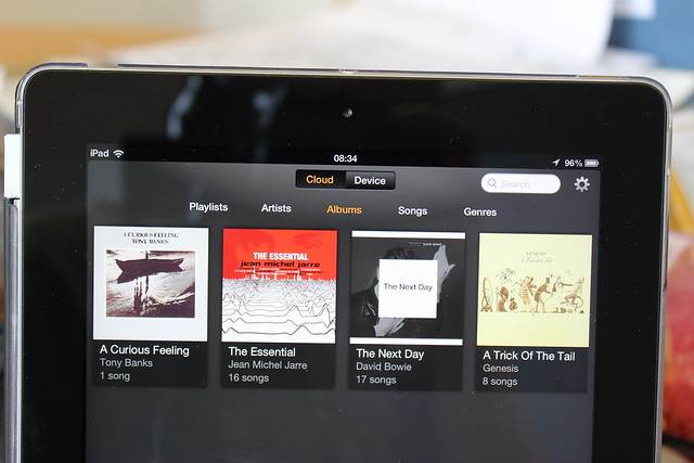 Amazon Cloud Player on an iPad