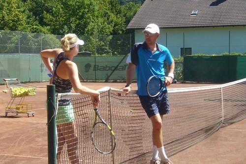 Tennisseminar Chrissi und Robin