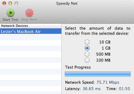 Speedy Net - Wireless N 5GHz (iMac) to Wireless N 5GHz (MacBook Air)