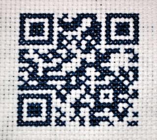QR Code Cross-Stitch