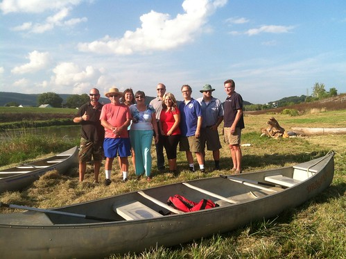 our ragtag canoe crew (including several find civil servants)