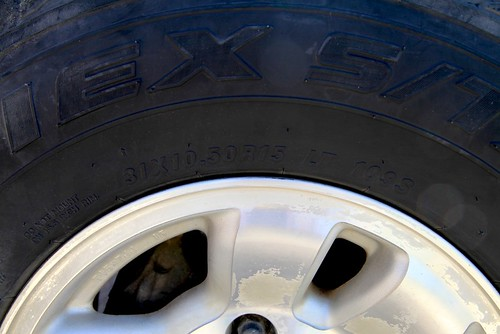 The 109 figure on the right is the tire's load index, used with the load range to calculate proper pressure. A reader, Christian, sent in this comment to my recent post The physics of tires and lifts: I have a related question that might warrant its ow...