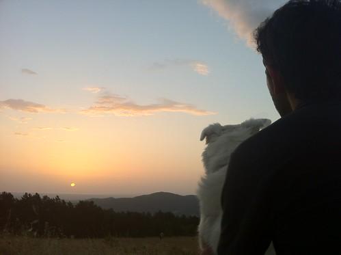 Luca e Arya all'alba sul Monte Rotondo