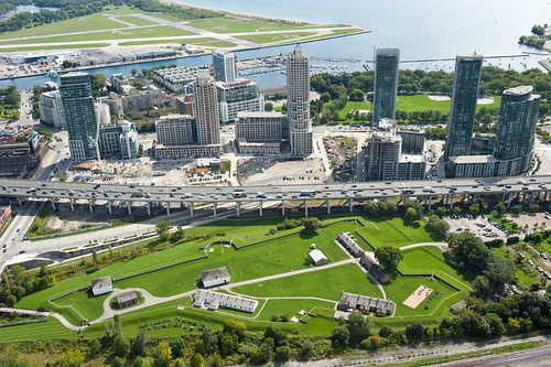 Toronto: Fort York, the Gardiner Expressway and the Toronto Island Airport