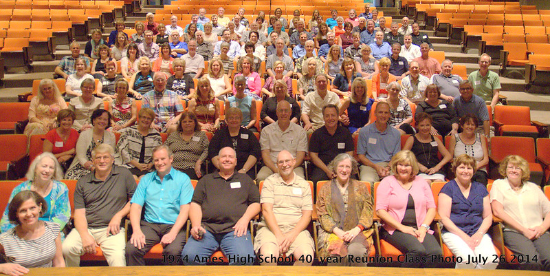 Ames High School Class of 1974 40 year reunion