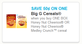 Coupon for Honey Nut Cheerios
