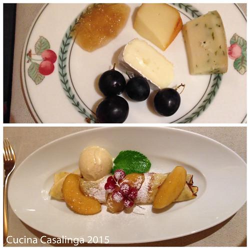 Hohenwart Abendessen 2 Kaese Dessert