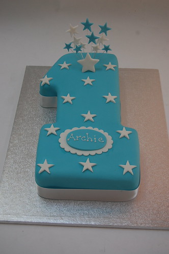 Blue Star Number One Cake Beautiful Birthday Cakes