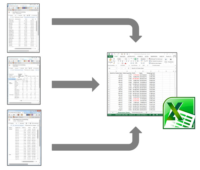 Automatically Exporting Multiple Cross Tables from Tableau Server into Excel